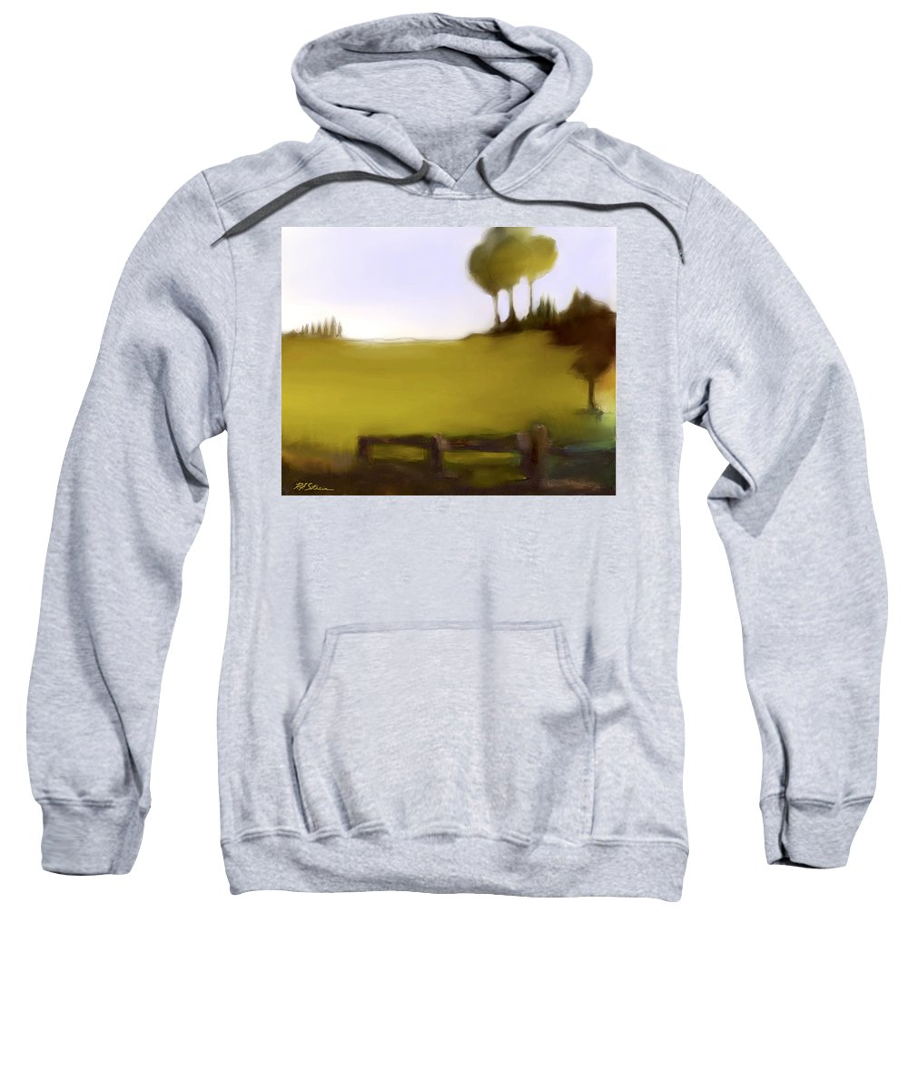Fineartamerica.com Sweatshirt featuring the painting Duxbury Golf Course Number 7-7 by Diane Strain