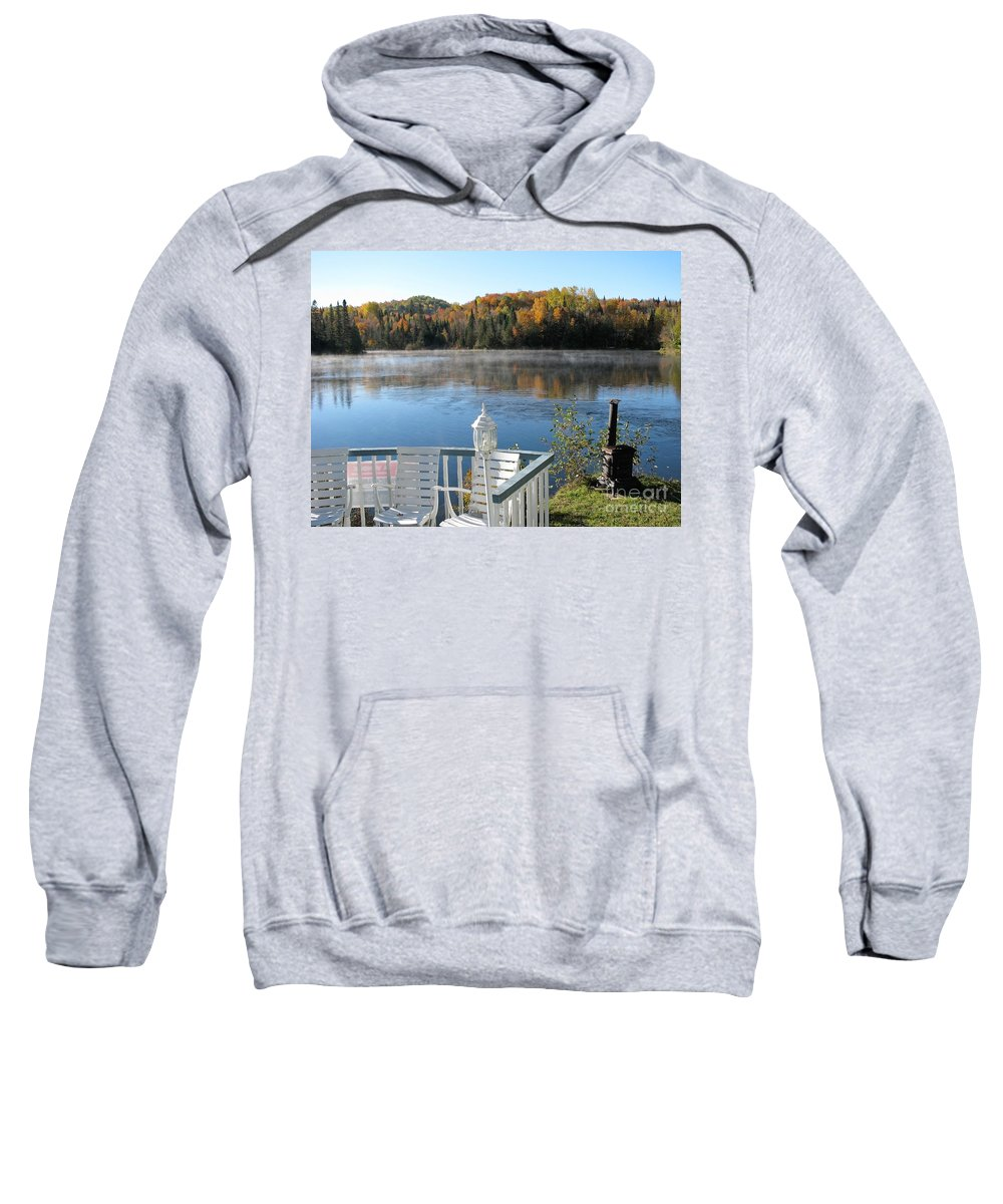 Canada Sweatshirt featuring the photograph Early Autumn Morning by Jola Martysz