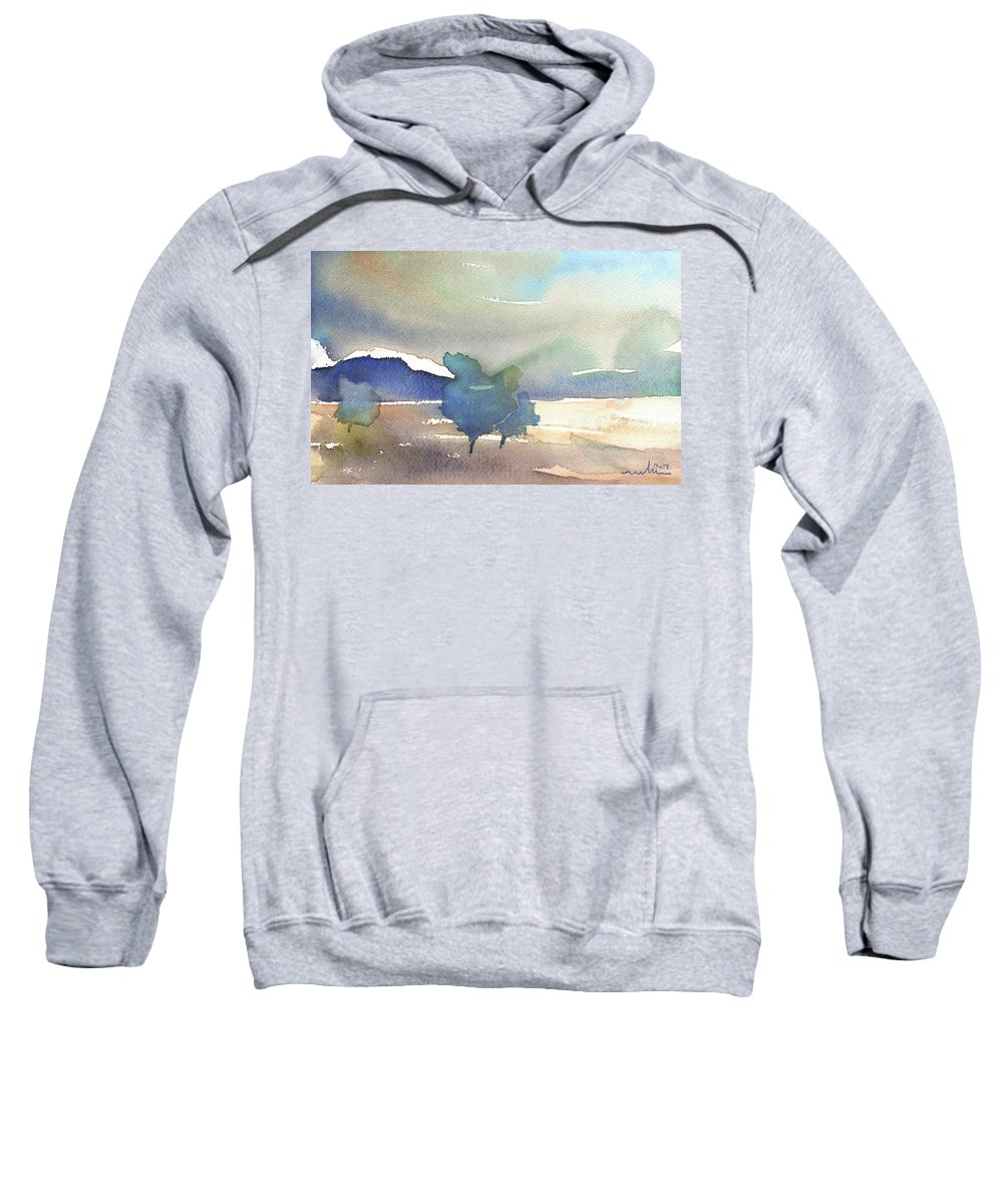 Nature Sweatshirt featuring the painting Early Morning 01 by Miki De Goodaboom