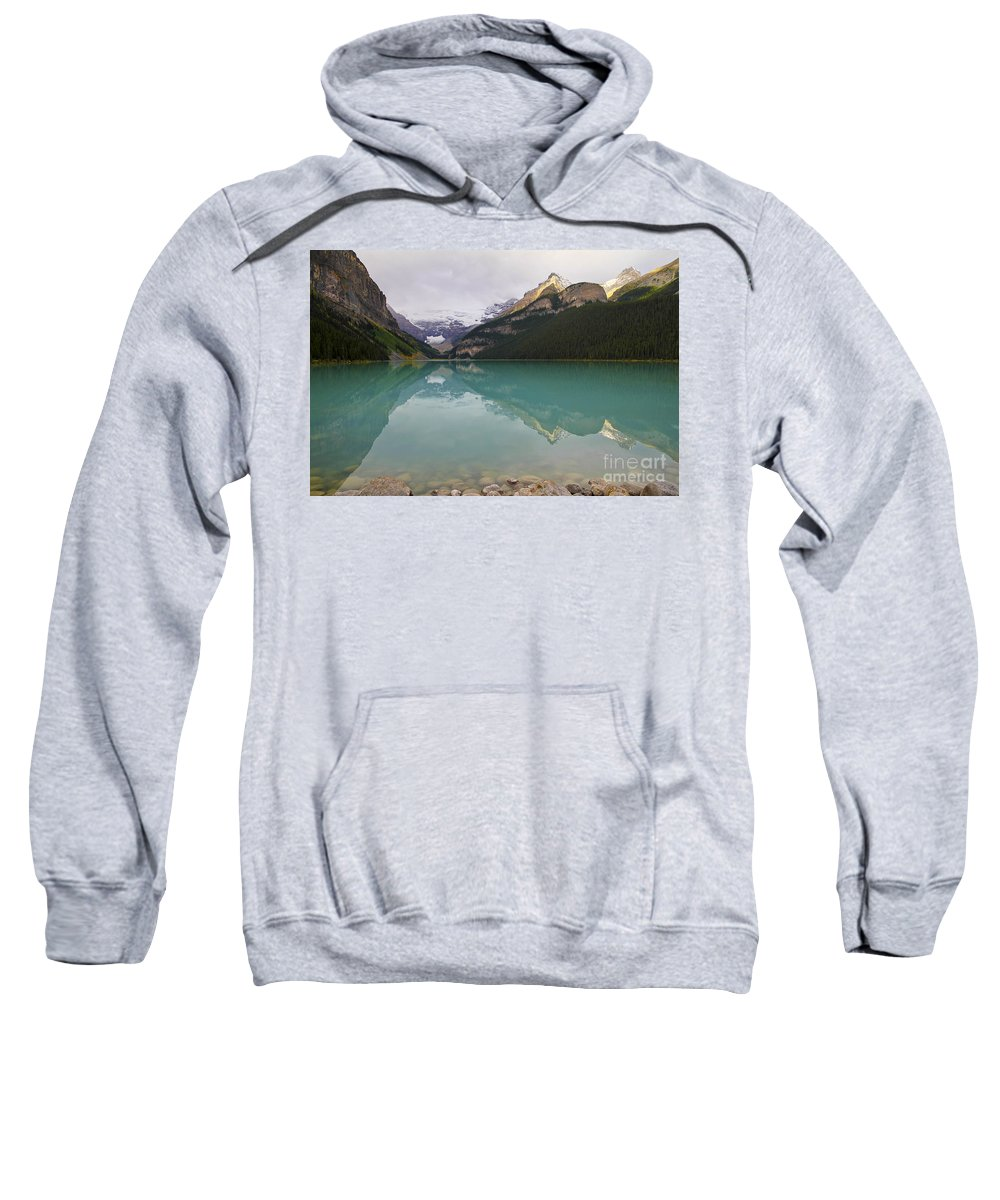 Lake Louise Sweatshirt featuring the photograph Early Morning At Lake Louise by Teresa Zieba