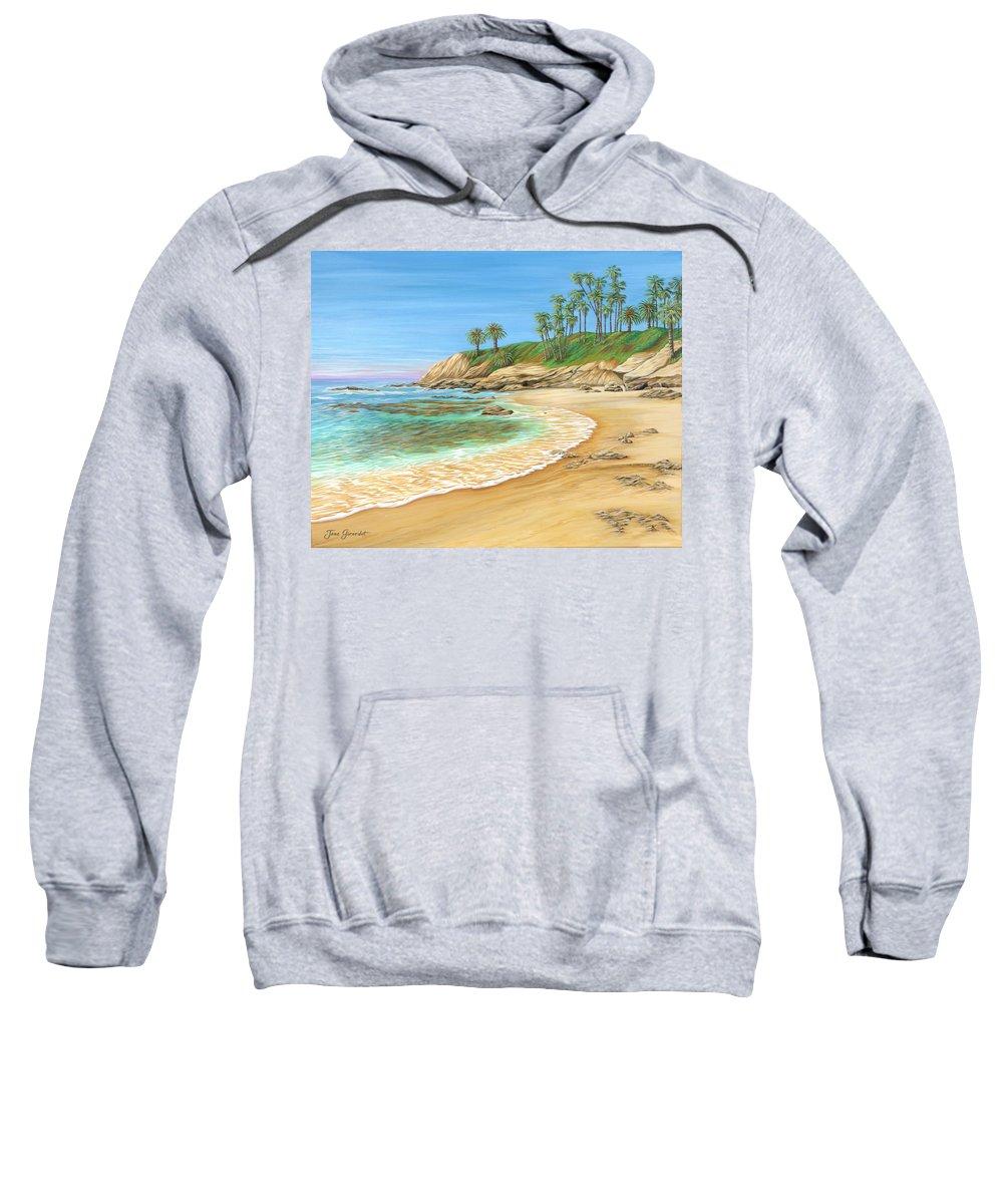 Beach Sweatshirt featuring the painting Early Morning Laguna by Jane Girardot
