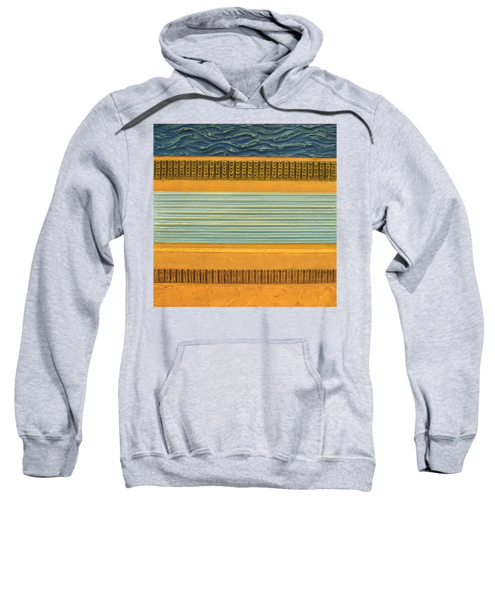 Abstract Sweatshirt featuring the painting Earth Layers Abstract Ll by Michelle Calkins
