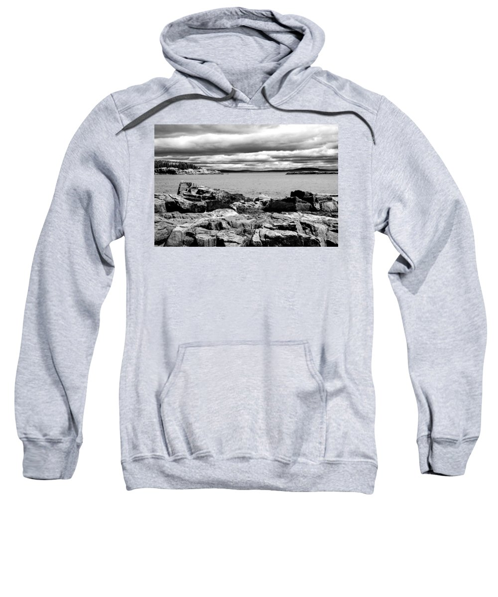 Mountains Sweatshirt featuring the photograph Earth Sea And Sky by Greg Fortier