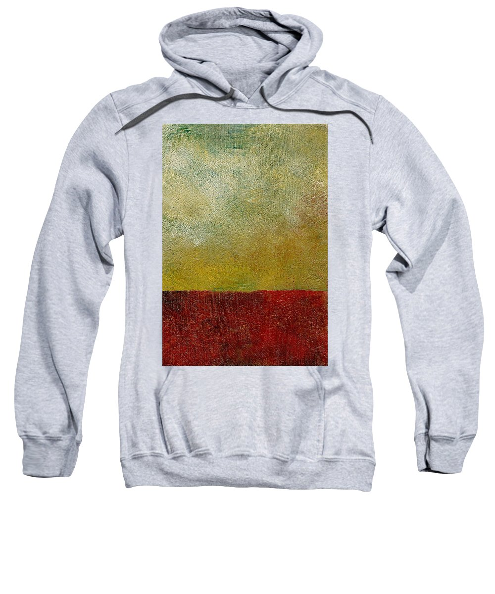 Abstract Landscape Sweatshirt featuring the painting Earth Study One by Michelle Calkins