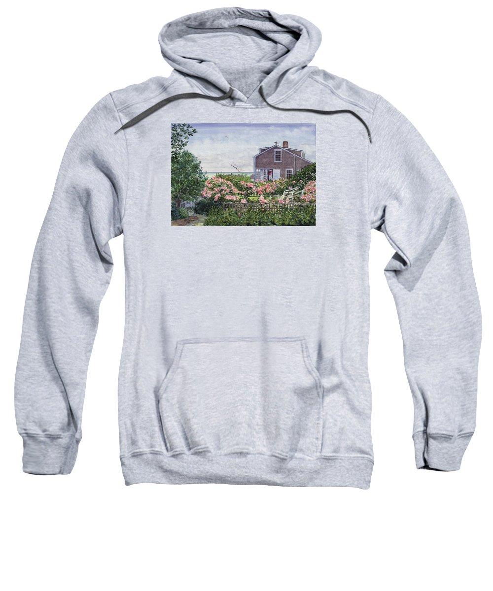 Nantucket Sweatshirt featuring the painting Eastward Look by Bill McEntee