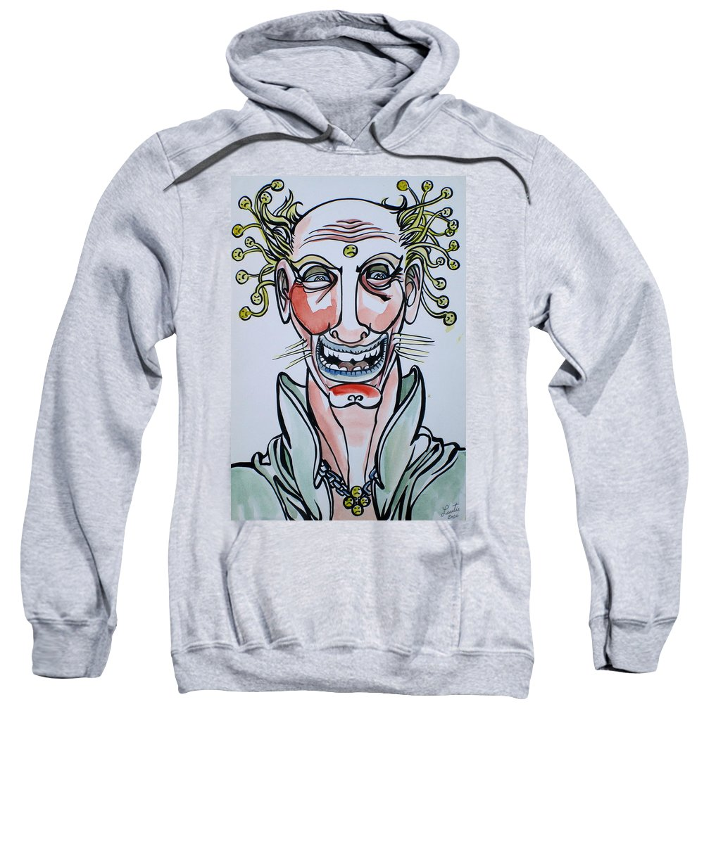 Smiling Sweatshirt featuring the drawing Eh Boy by Fabrizio Cassetta