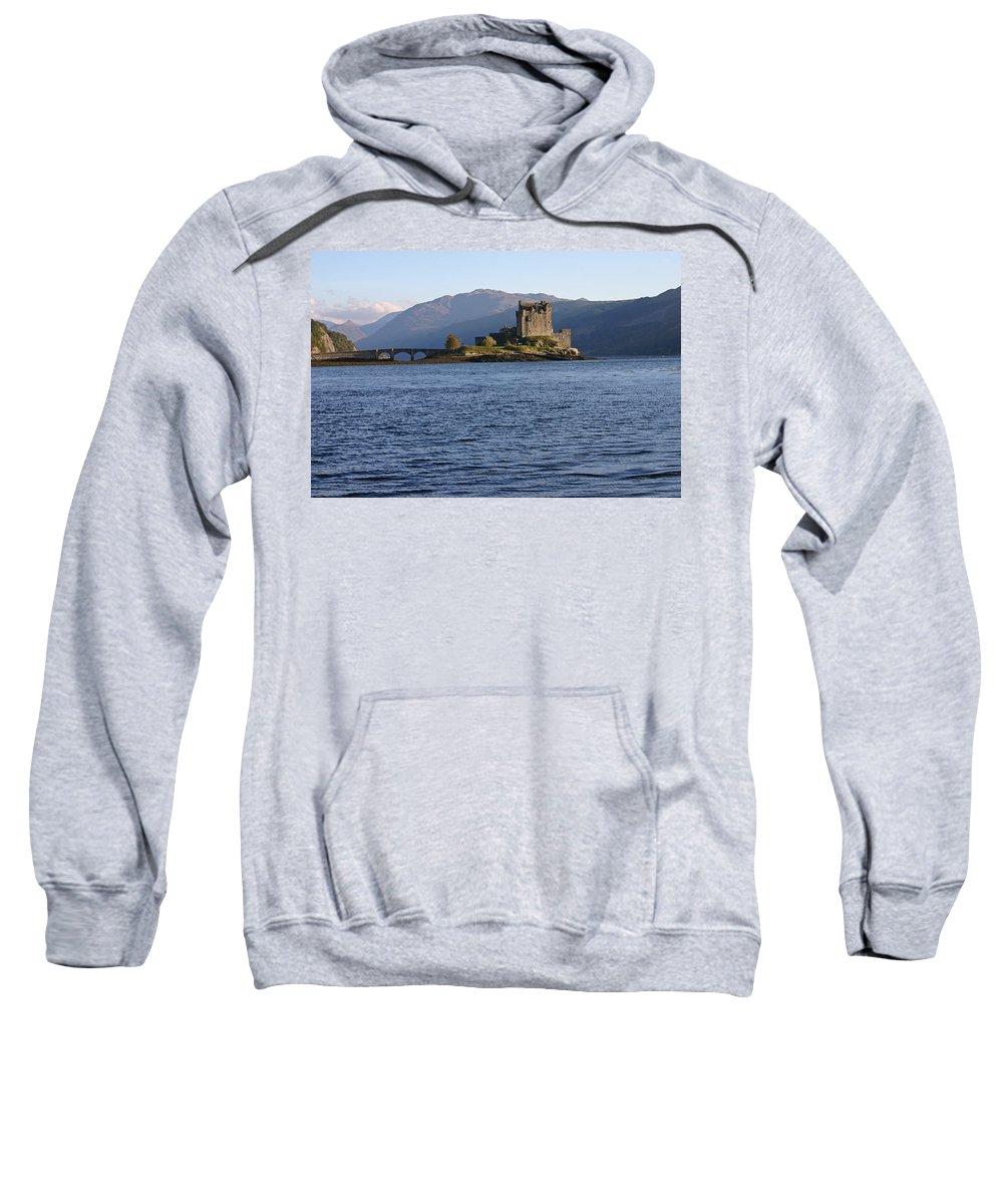 Alsh Sweatshirt featuring the photograph Eilean Donan Castle by Fraser McCulloch