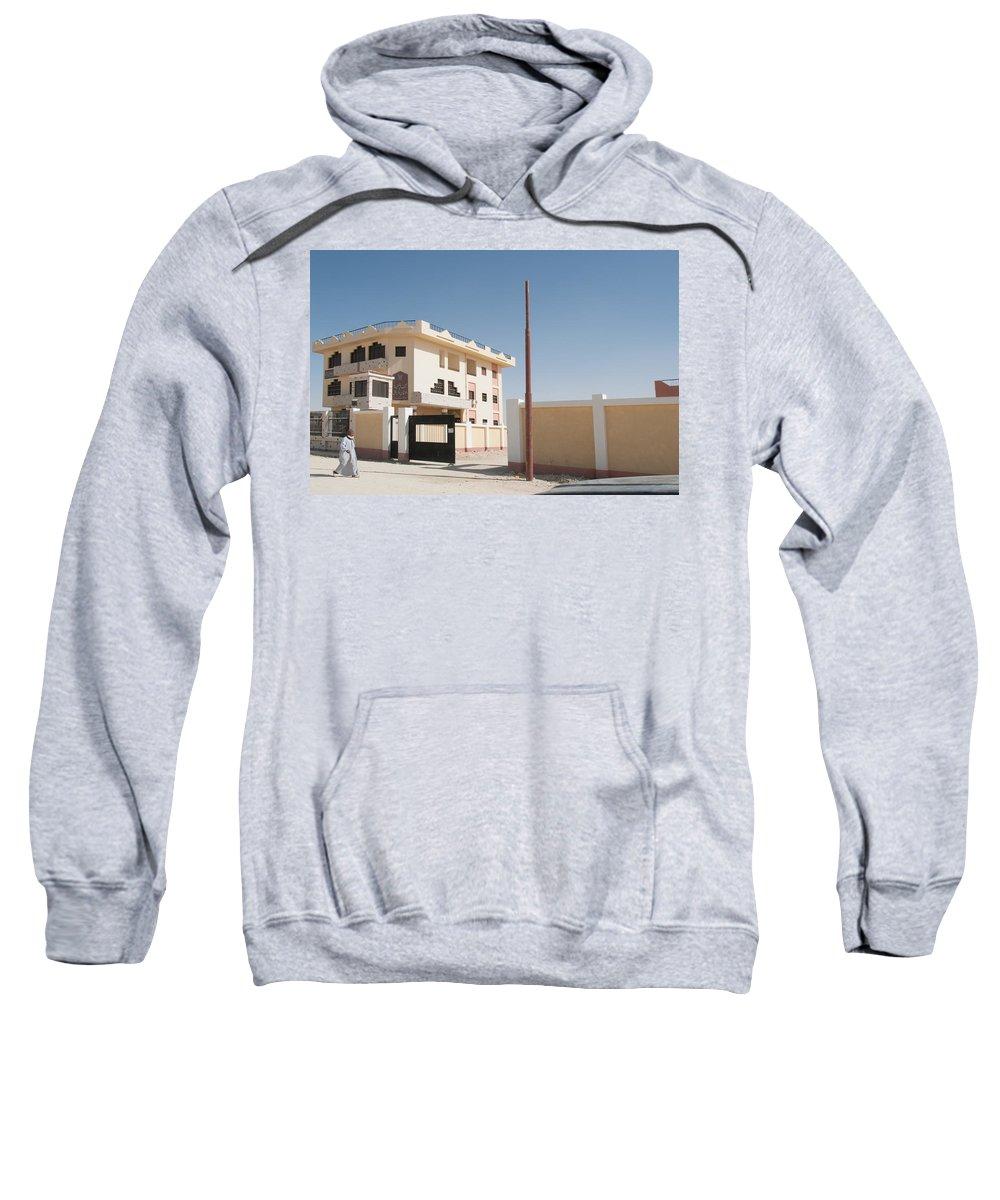 El Farafar Oasis Sweatshirt featuring the digital art El Farafar Oasis by Carol Ailles