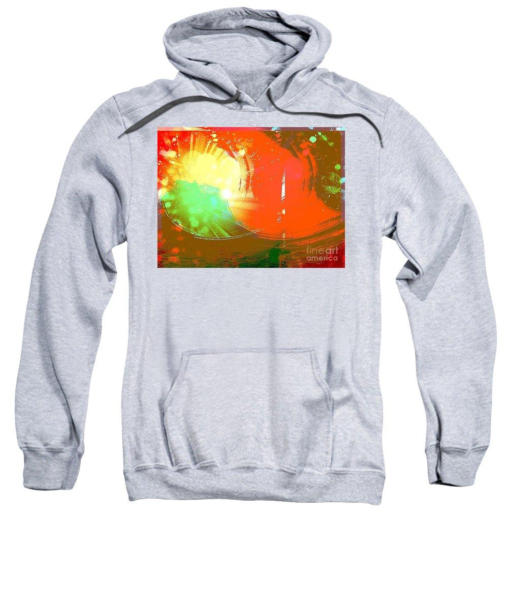Art Sweatshirt featuring the mixed media Emergent Sun by Michelle Stradford
