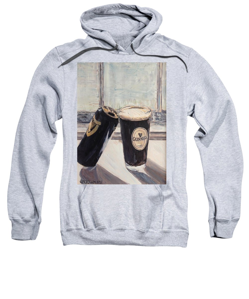 Empty Me Sweatshirt featuring the painting Empty Me by Chris Grocholski