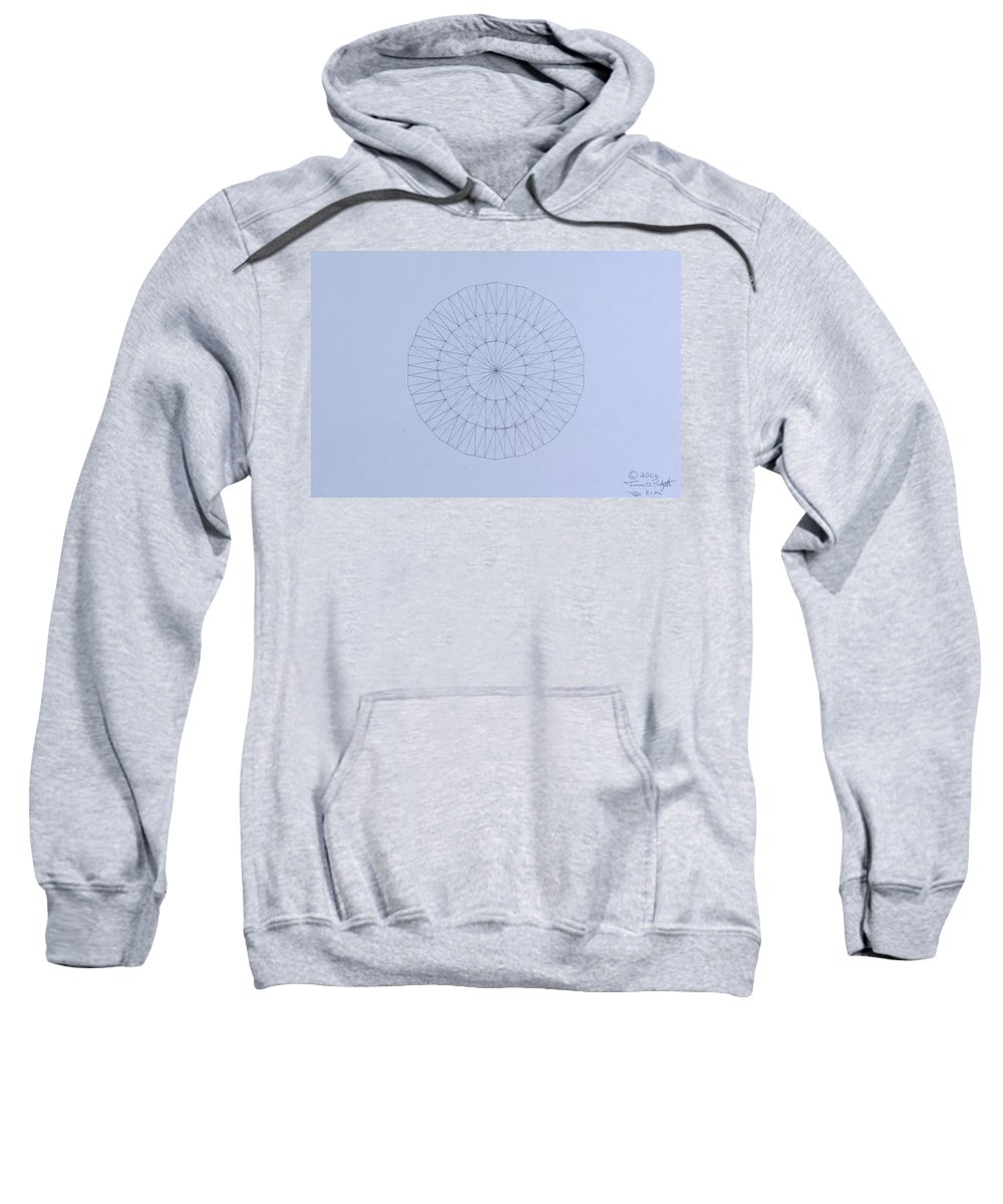 Jason Padgett Sweatshirt featuring the drawing Energy Wave 20 Degree Frequency by Jason Padgett