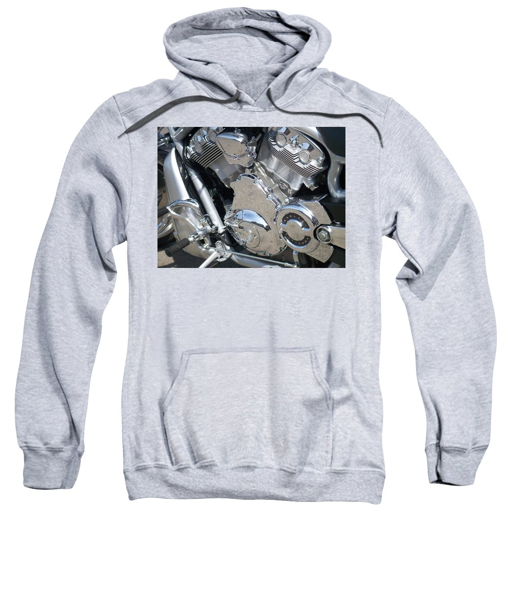 Motorcycles Sweatshirt featuring the photograph Engine Close-up 3 by Anita Burgermeister