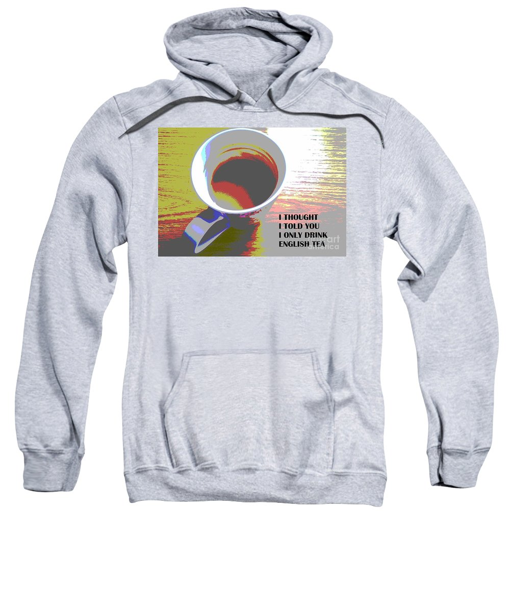 Pop Art Sweatshirt featuring the photograph English Tea by Martin Howard