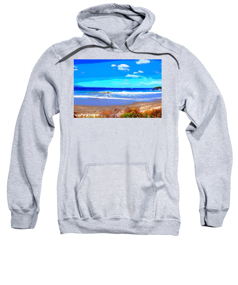 Sea Sweatshirt featuring the photograph Enjoy The Blue Sea by SilkAndPaper Art