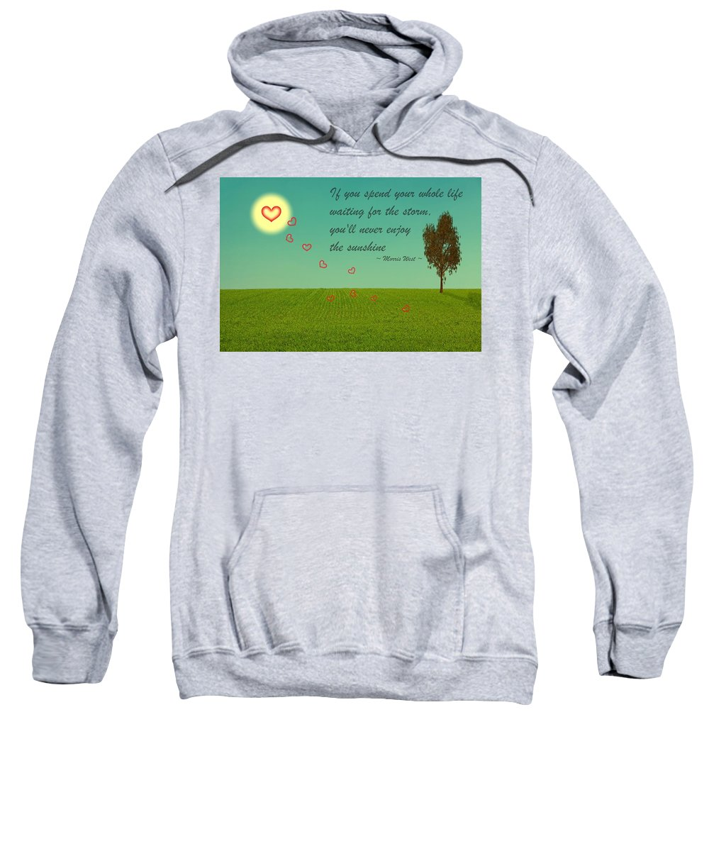 Sunshine Sweatshirt featuring the digital art Enjoy The Sunshine by David Dehner