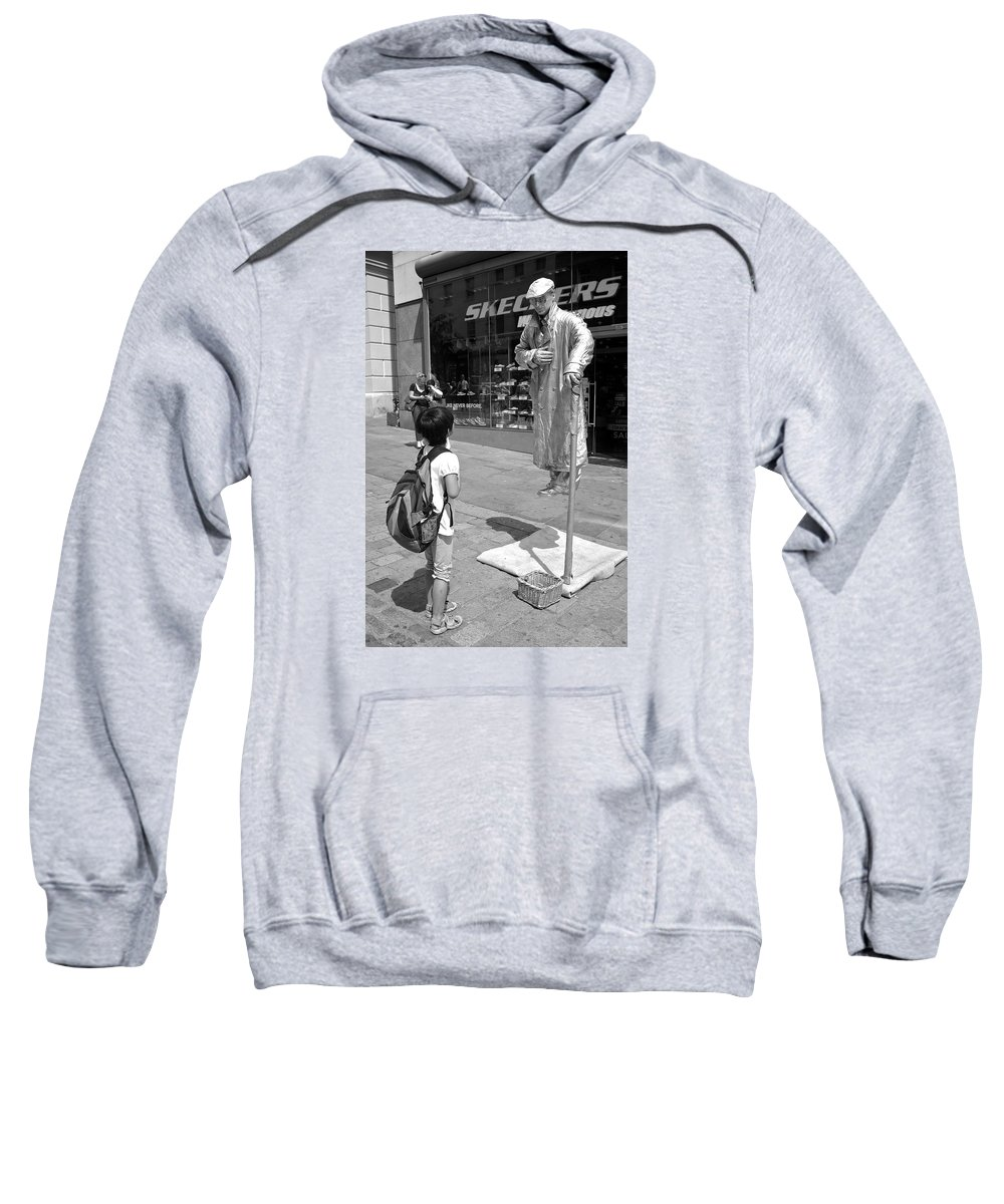 Street Candid Sweatshirt featuring the photograph Enthralled by Venetia Featherstone-Witty