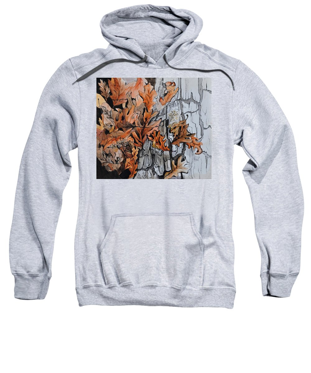 Abstract Sweatshirt featuring the painting Eruption I by Rachel Christine Nowicki