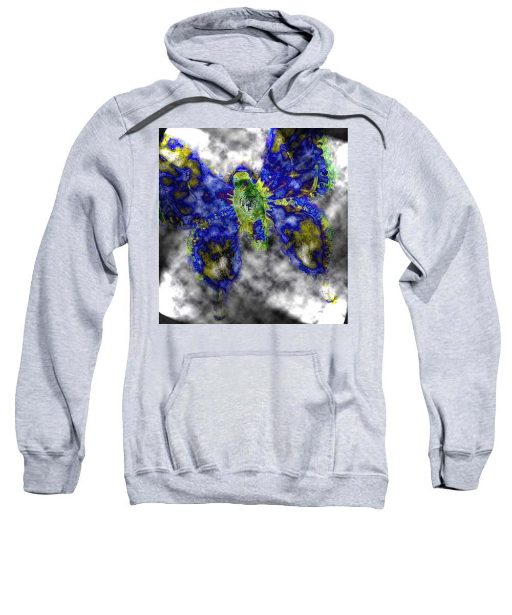 Butterfly Sweatshirt featuring the photograph Escape Altitude by Lisa Brandel
