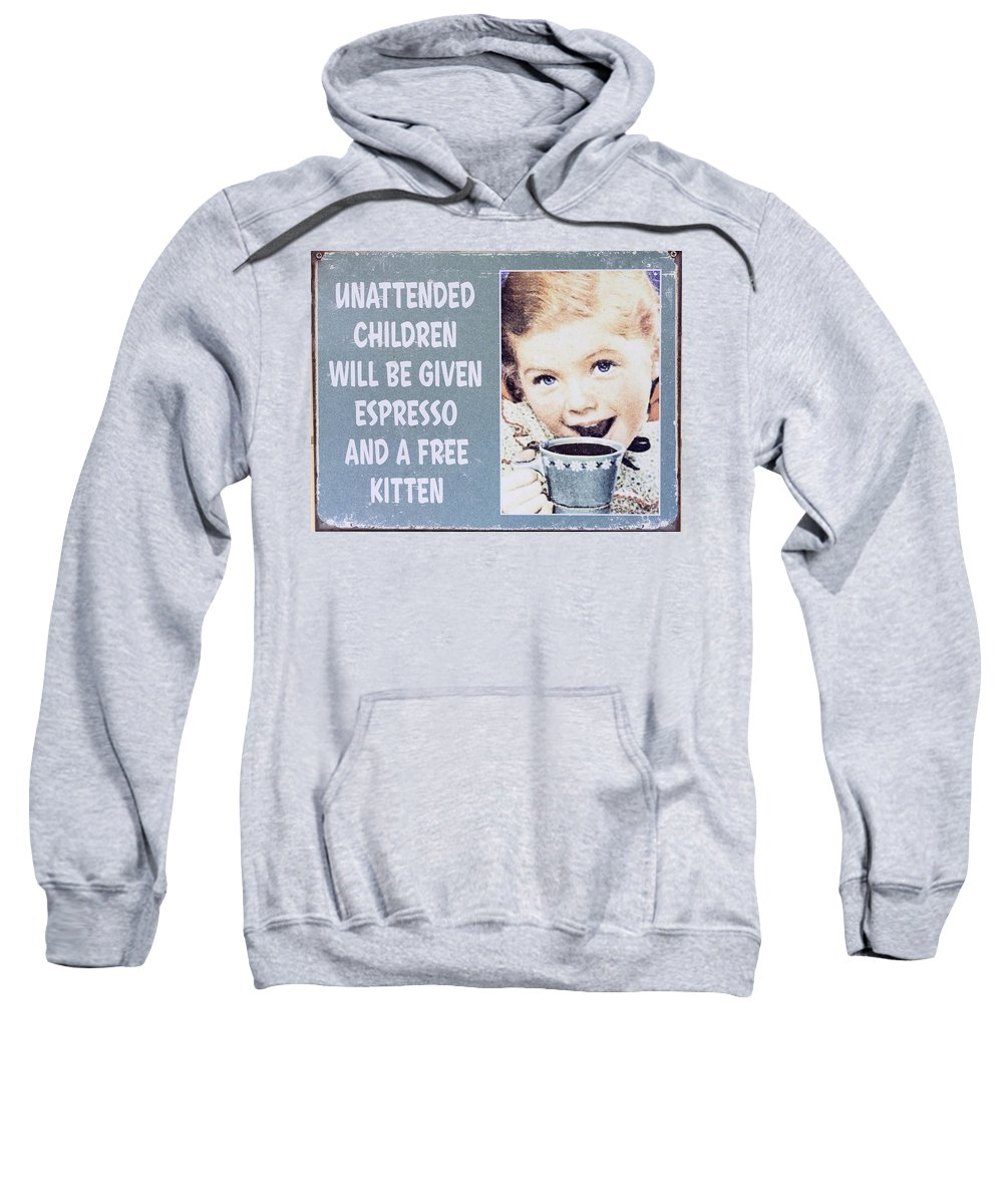 Australia Sweatshirt featuring the photograph Espresso And Kitten Sign by Steven Ralser