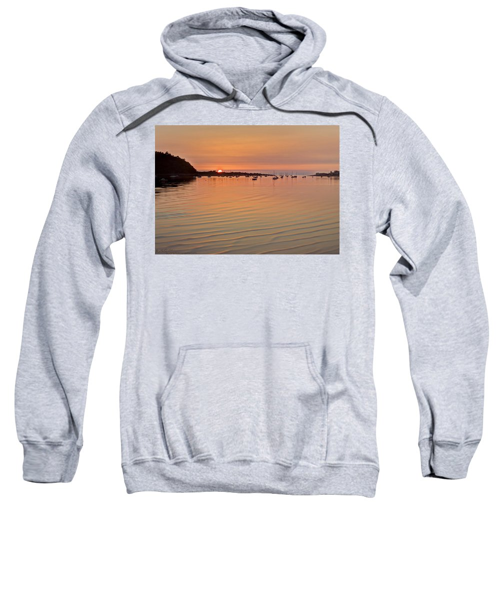 Sunset Sweatshirt featuring the photograph Estruary Harbour Sunset by Beverly Cash