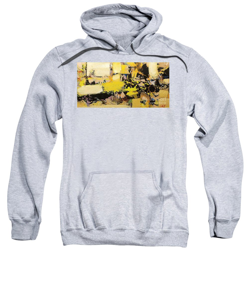 Landscape Sweatshirt featuring the painting Euclid by Allan P Friedlander