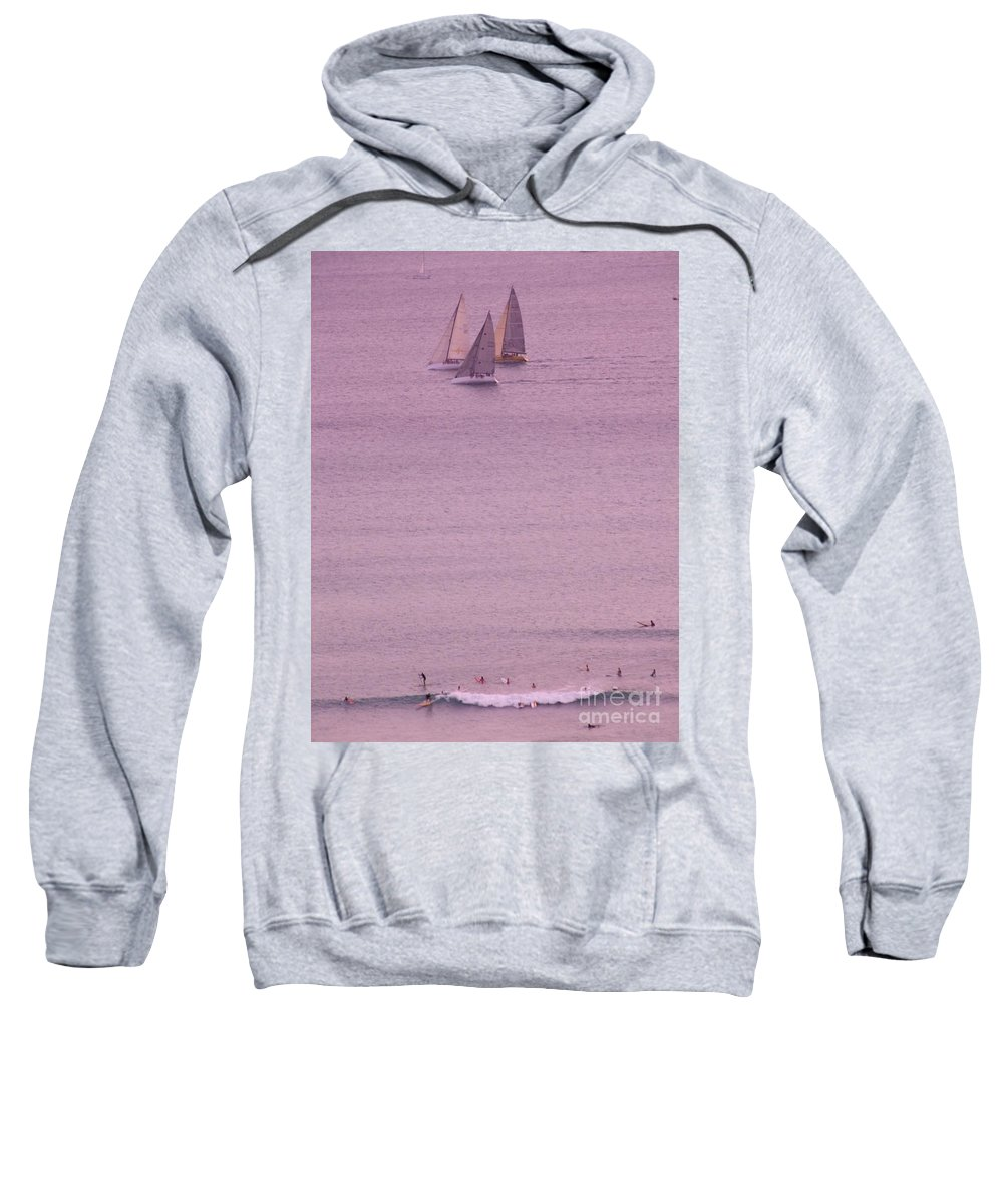 Sailing Sweatshirt featuring the photograph Evening Pink by Mary Deal