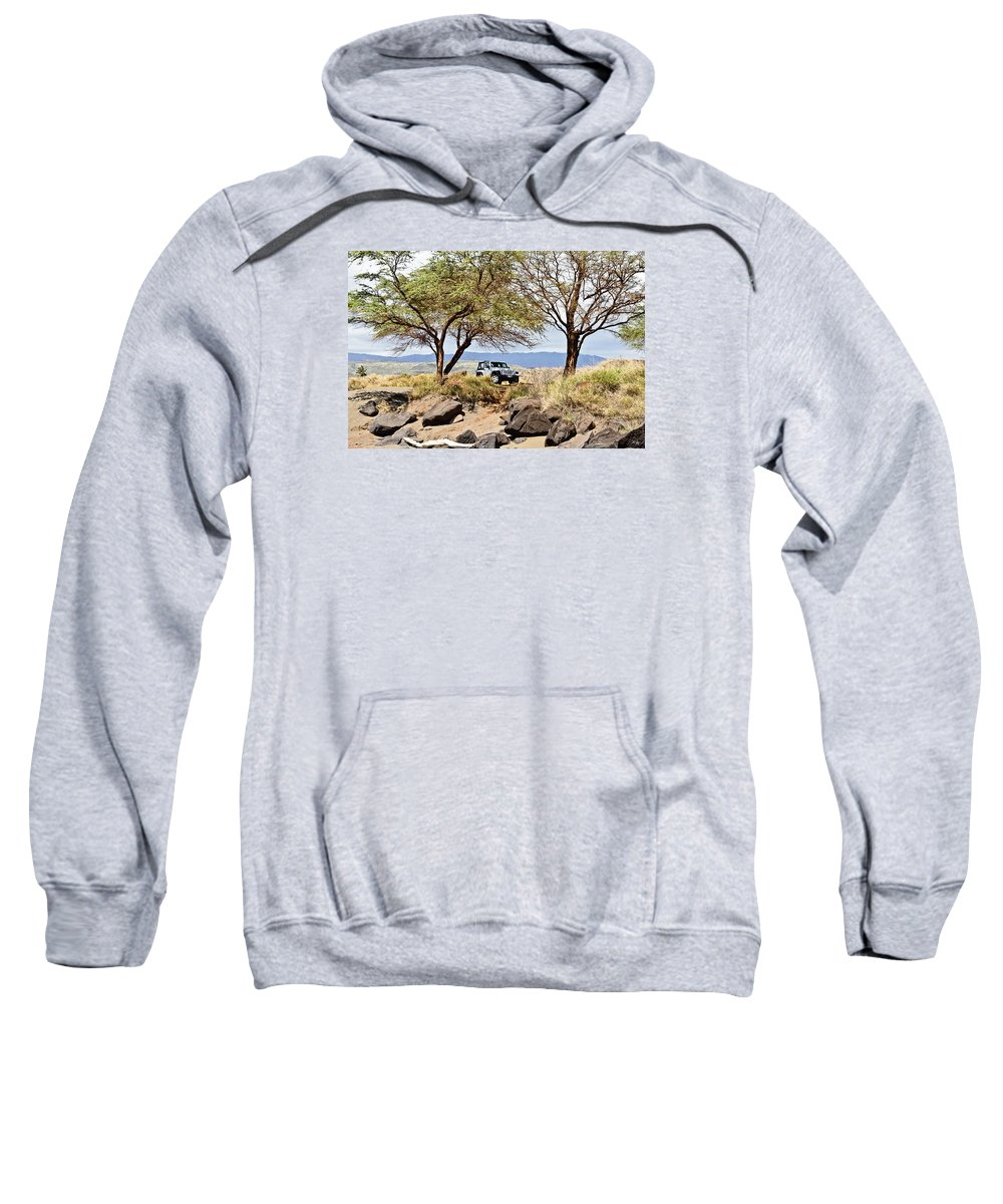 Jeep Sweatshirt featuring the photograph Exploring Kauai by Scott Pellegrin