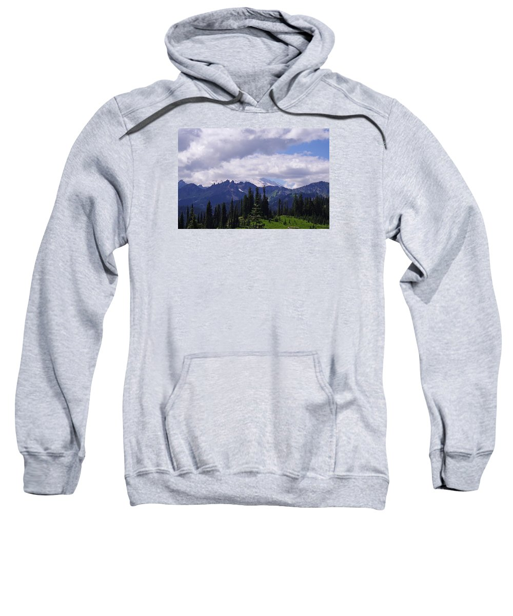 Extraordinary Sweatshirt featuring the photograph Extraordinary Heights by Mike and Sharon Mathews