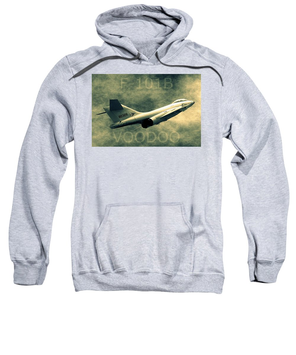 Northcutt Sweatshirt featuring the photograph F-101b Voodoo by Betty Northcutt