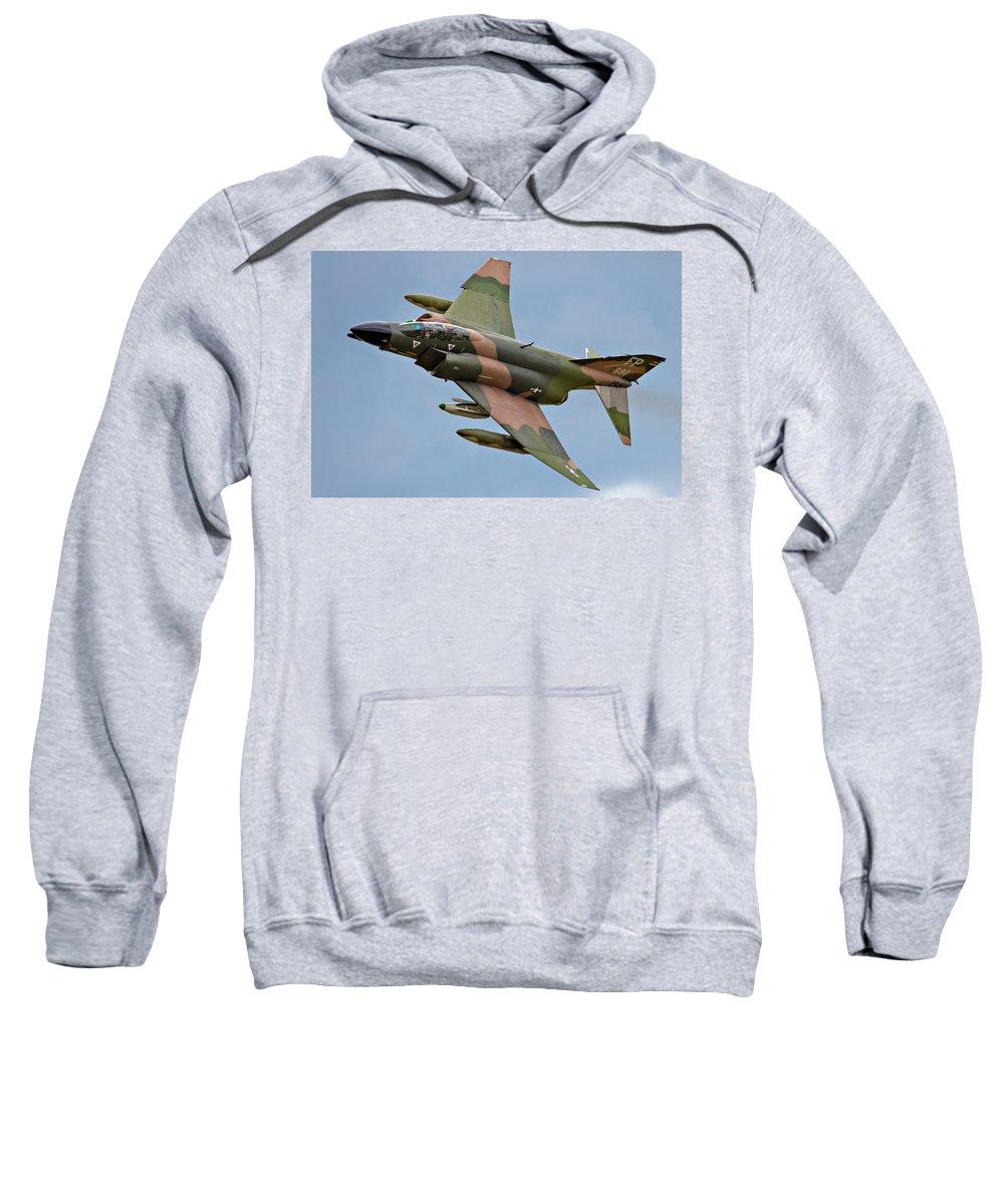Airshows Sweatshirt featuring the photograph F-4 Phantom II by Bill Lindsay