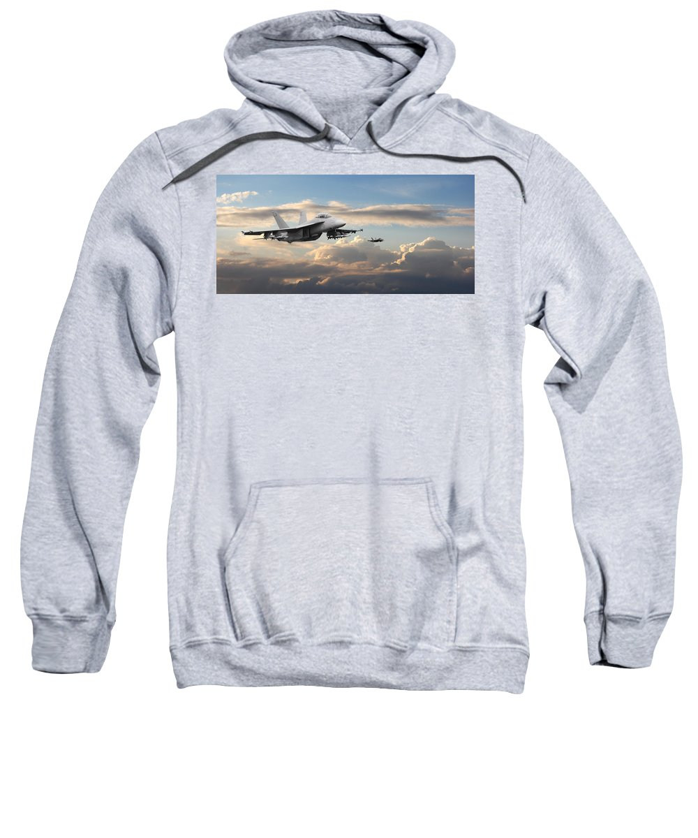 Aircraft Sweatshirt featuring the photograph F18 - Super Hornet by Pat Speirs