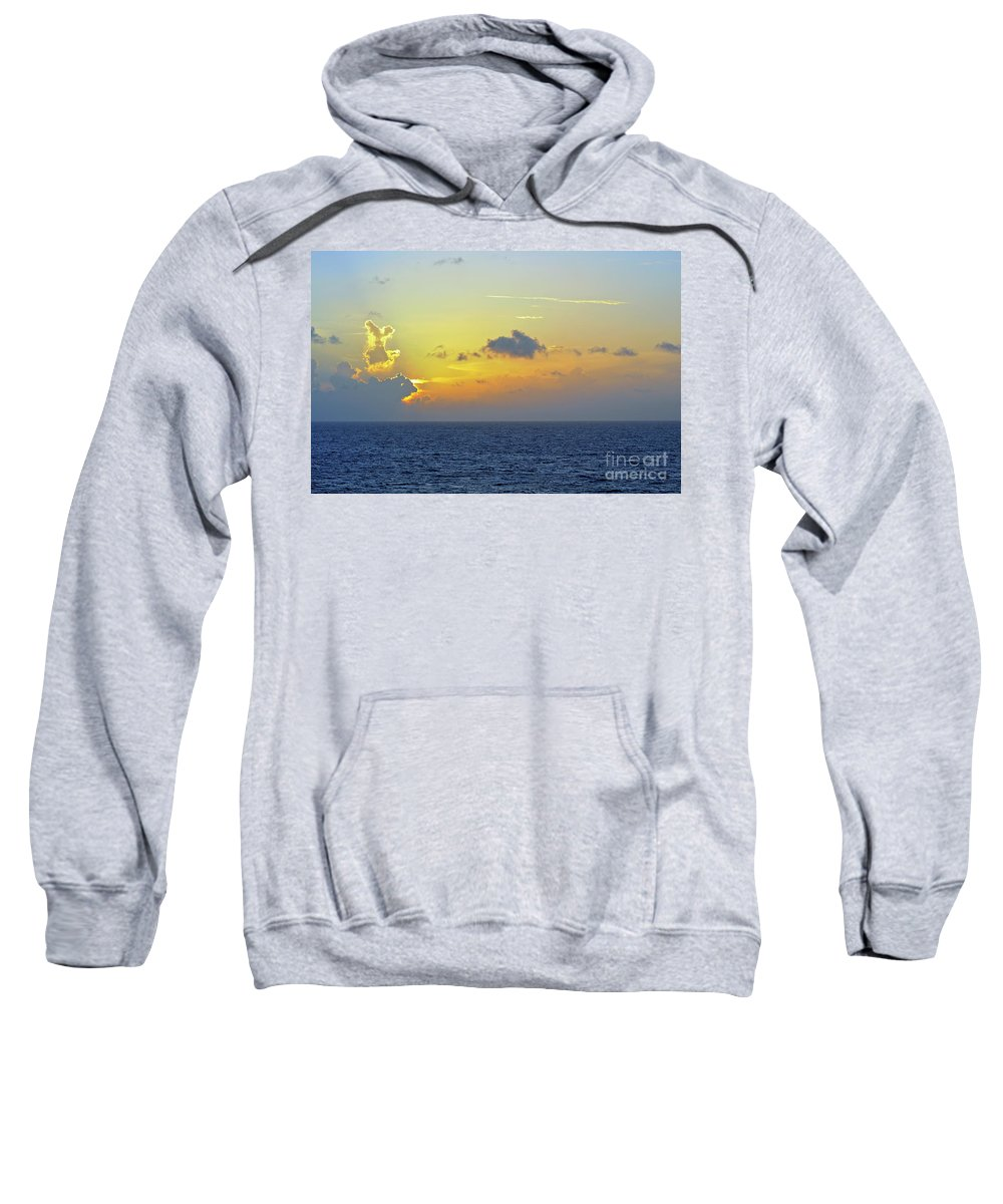 Sunset Sweatshirt featuring the photograph Face In The Clouds by Glenn Gordon