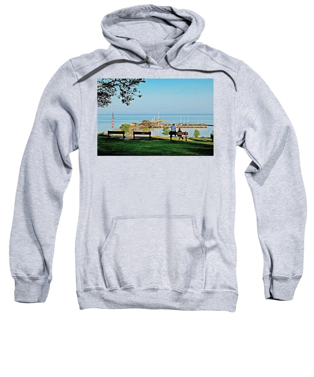 Fairhope Sweatshirt featuring the painting Fairhope Alabama Pier by Michael Thomas