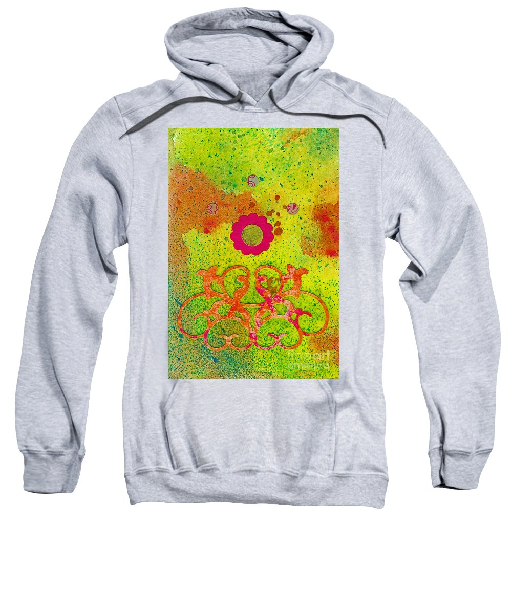 Fall Sweatshirt featuring the painting Fall Flowers by Desiree Paquette