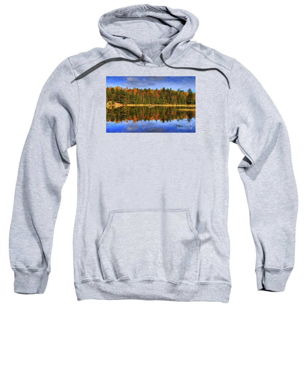 Festblues Sweatshirt featuring the photograph Fall.. by Nina Stavlund