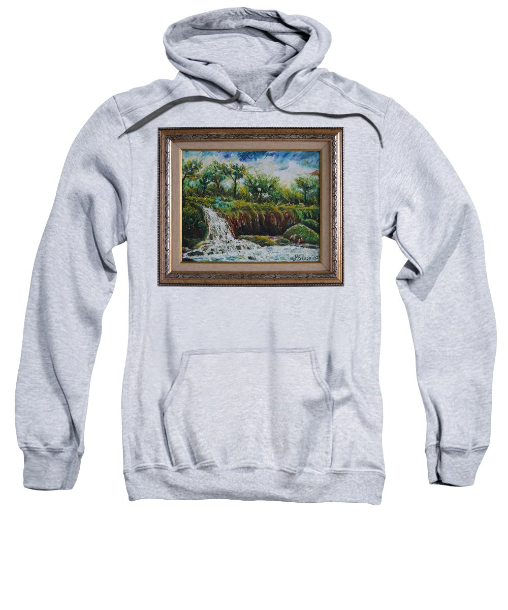 Fall Sweatshirt featuring the painting Fall Of Duden by Kazim C