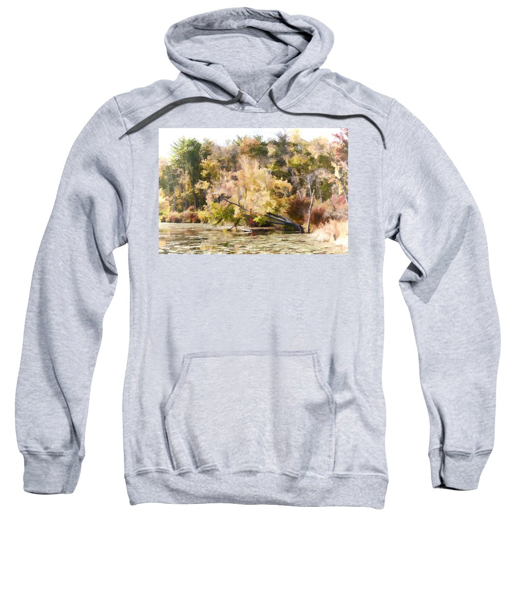 Autumn Sweatshirt featuring the photograph Fall Pond by Ray Summers Photography
