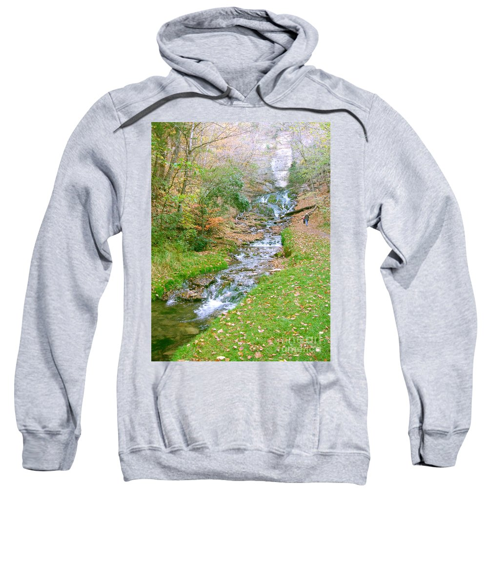 Springs Sweatshirt featuring the photograph Fall Springs by Minding My Visions by Adri and Ray