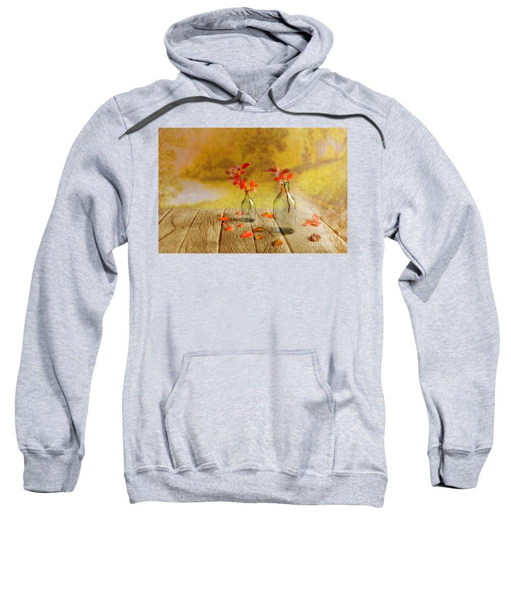 Art Sweatshirt featuring the photograph Fallen Leaves by Veikko Suikkanen