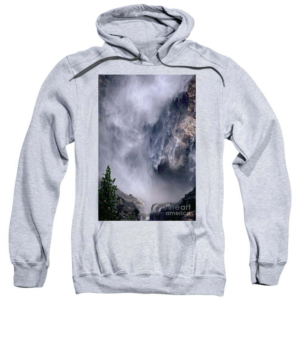 Waterfall Sweatshirt featuring the photograph Falling Water by Kathy McClure