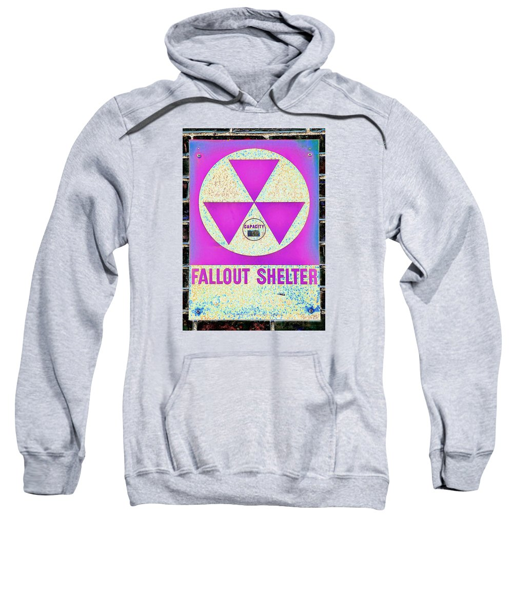 Fallout Sweatshirt featuring the photograph Fallout Shelter Wall 6 by Stephen Stookey