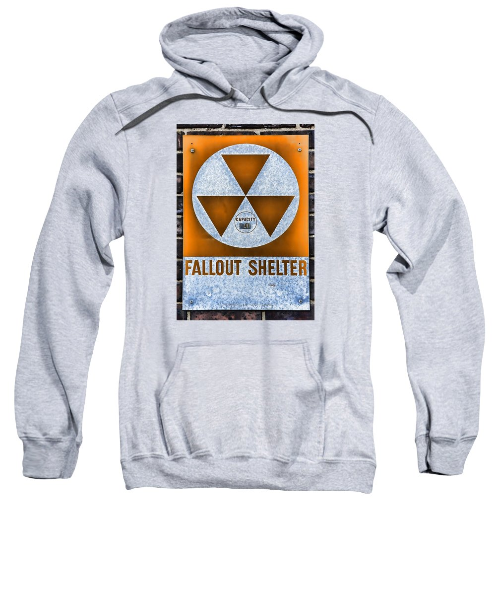Fallout Sweatshirt featuring the photograph Fallout Shelter Wall 8 by Stephen Stookey