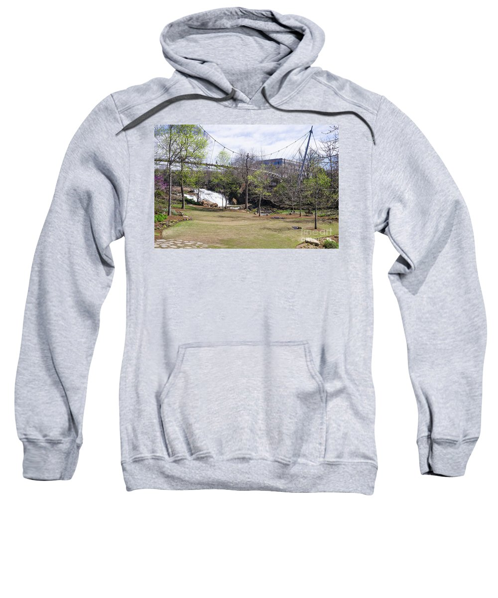 Falls Park Sweatshirt featuring the photograph Falls Park On The Reedy Greenville by Steven Ralser