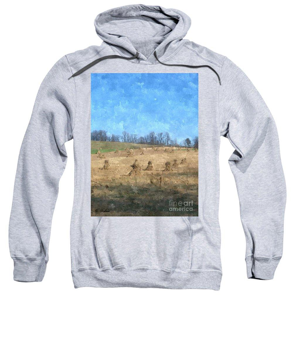 Farm Sweatshirt featuring the painting Farm Days 2 by Sara Raber