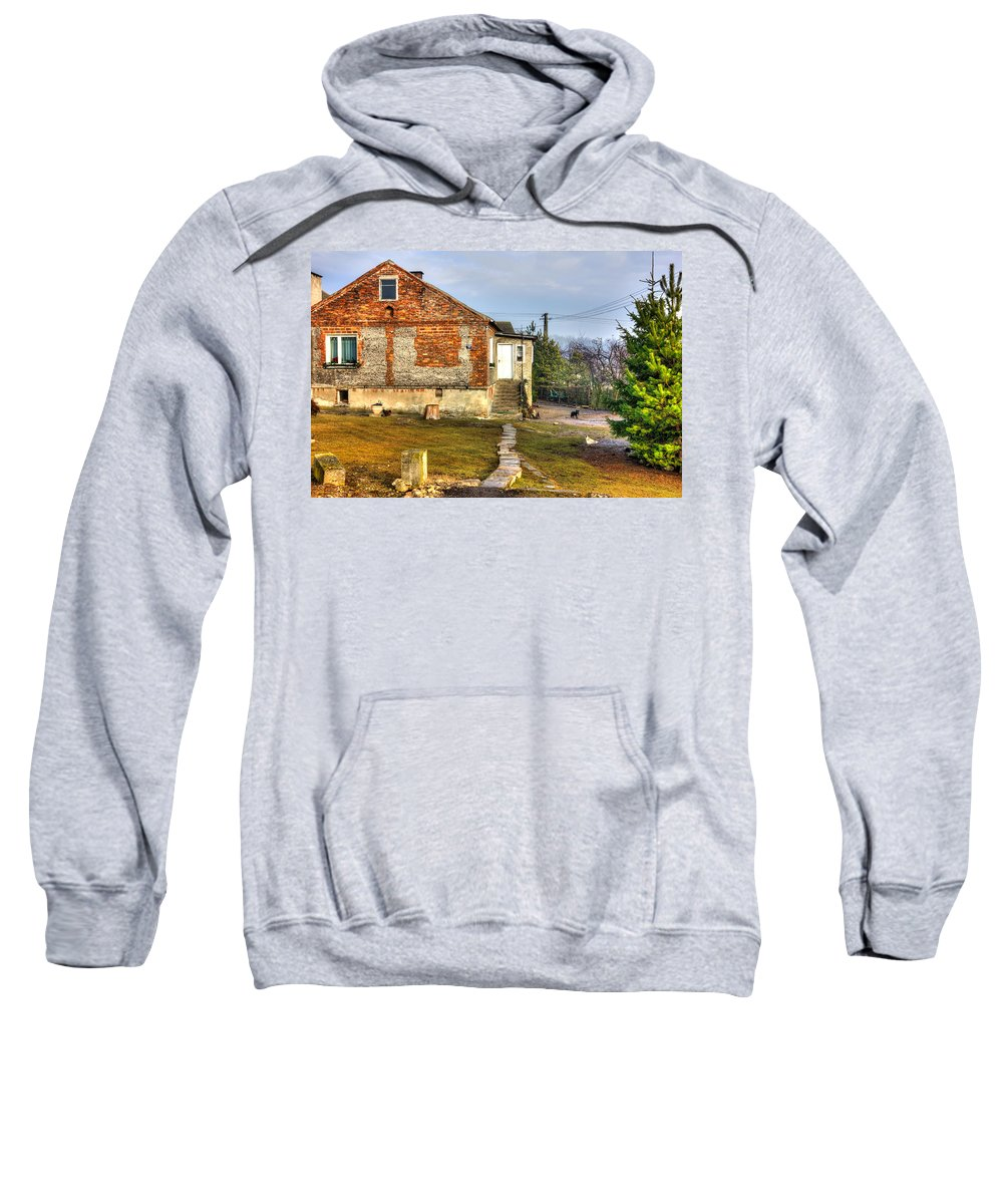 Hdr Sweatshirt featuring the photograph Farm by Pati Photography
