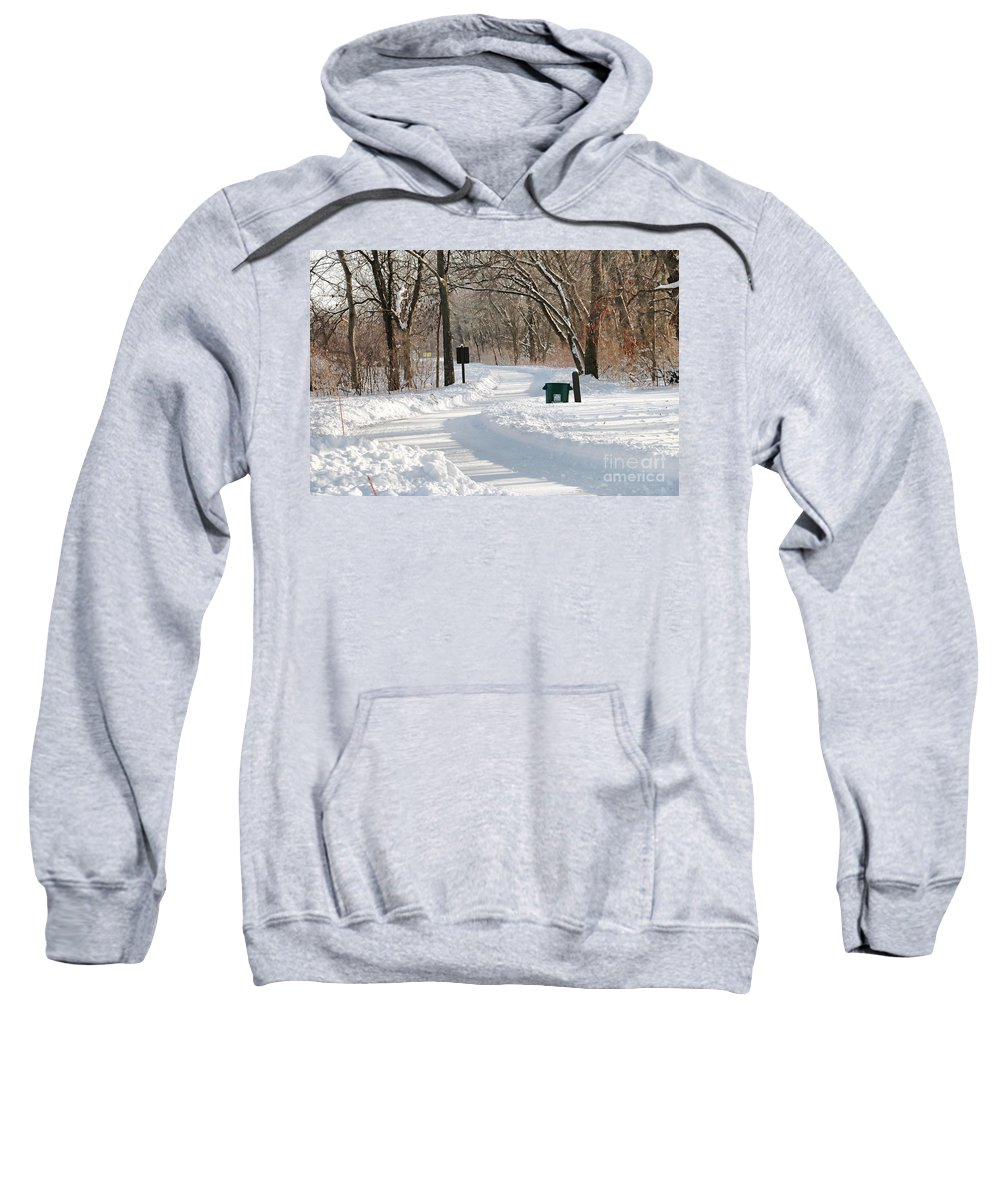 Farnsworth Park Sweatshirt featuring the photograph Farnsworth Park Path by Jack Schultz