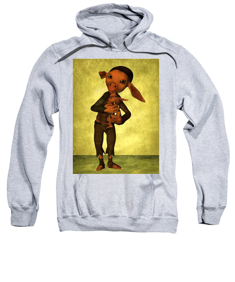 Child Sweatshirt featuring the digital art Father And Son by Gabiw Art