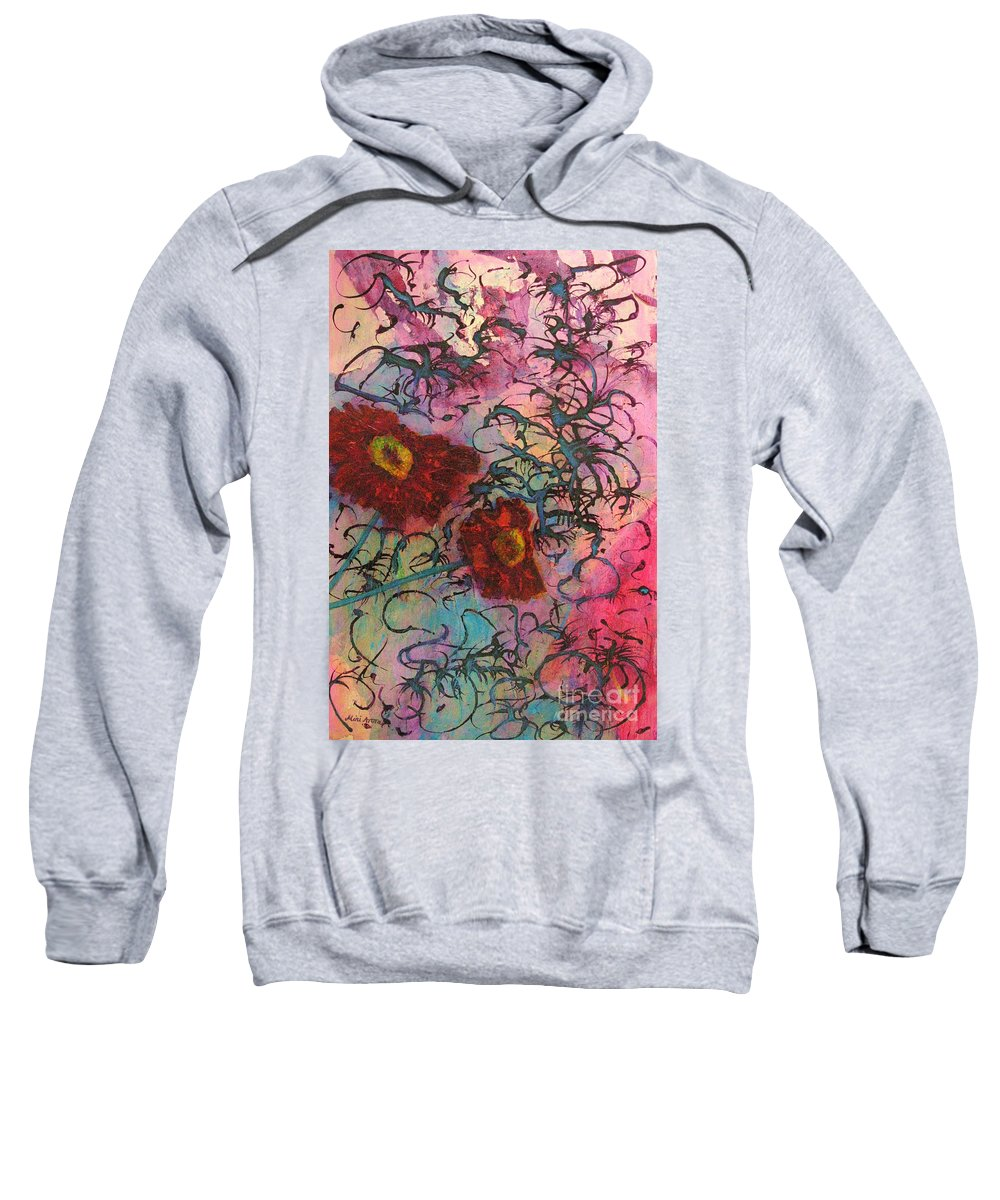 Flowers Sweatshirt featuring the painting Feel Free by Mini Arora