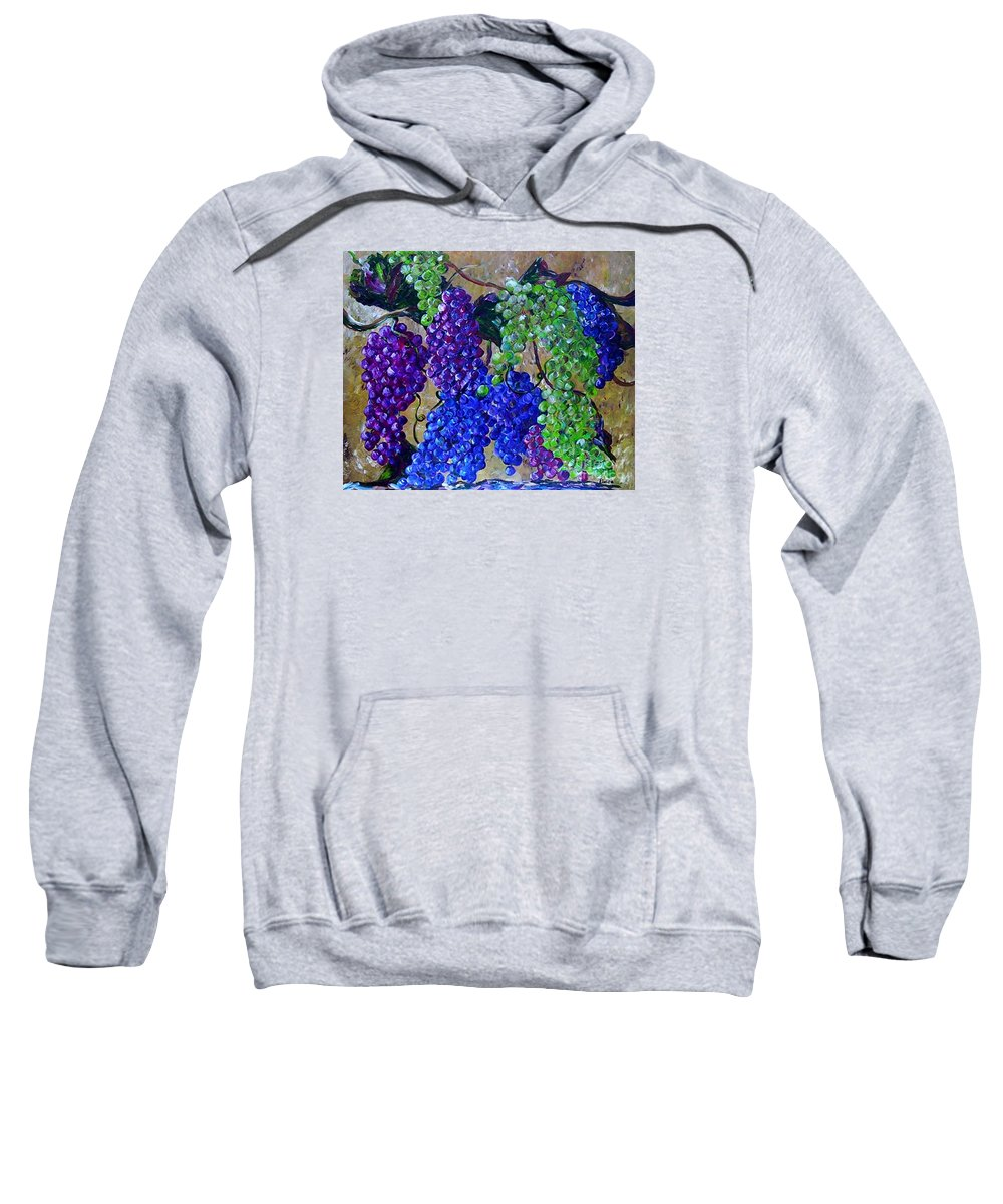 Grapes Sweatshirt featuring the painting Festival Of Grapes by Eloise Schneider Mote