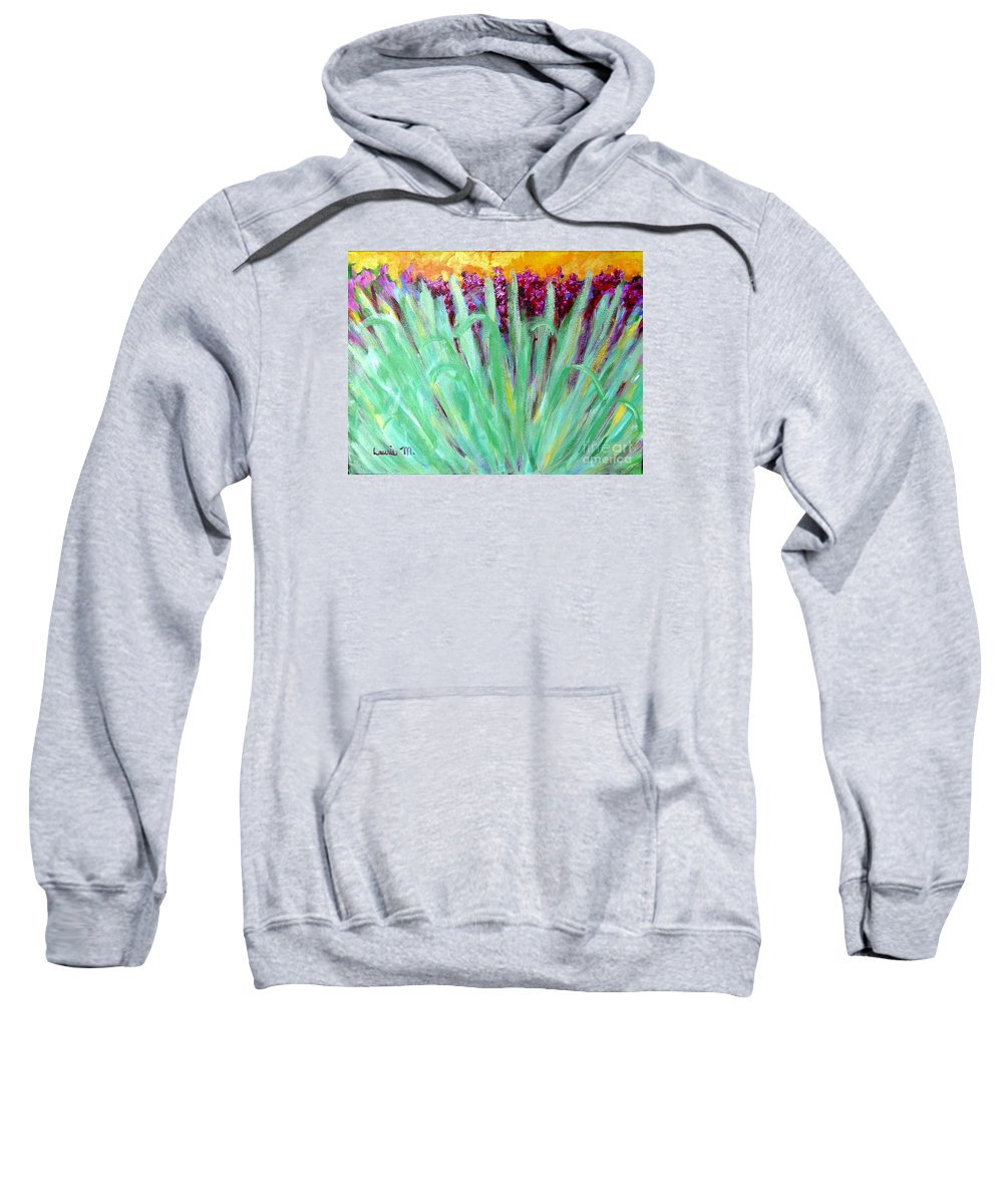 Abstract Sweatshirt featuring the painting Festoon by Laurie Morgan